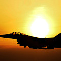 F-16 Fighting Falcon Flying Over Korea by Science Source