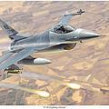 F-16 Fighting Falcon by Mark Karvon