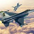 F-16c Sunset Falcons by Stu Shepherd