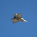 F-22  Raptor In Flight Las Vegas II by Carl Deaville