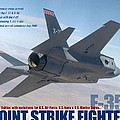 Lockheed Martin F-35 Joint Strike Fighter Lightening II With Text by L Brown