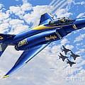 F-4 Phantoms In Blue by Stu Shepherd