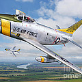 F-86l Of The 82nd Fis by Stu Shepherd