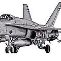 F/a-18c Forward Quarter by Clay Greunke