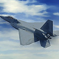 F22  Raptor Climbing In The Clouds by Bob and Nadine Johnston