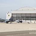 Fa-18 Hornets On The Flight Line by Timm Ziegenthaler