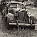 Fabulous Vintage Car Black And White by Cathy Anderson