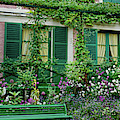Facade Of Claude Monets House, Giverny by Panoramic Images