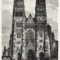 Facade Of The Metropolitan Church Of Tours by Litz Collection