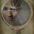 Face In Broken Mirror by Amanda Elwell