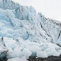 Face Of Bryn Mawr Glacier by Ted Raynor