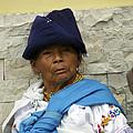 Face Of Ecuador Woman At Cotacachi by Kurt Van Wagner