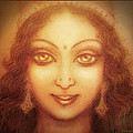 Face Of The Goddess/ Durga Face by Ananda Vdovic