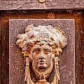 Face On The Door - Rectangular Crop by Lindley Johnson