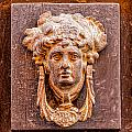 Face On The Door - Square Crop by Lindley Johnson
