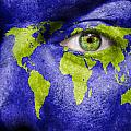 Face The World Map by Semmick Photo