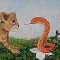 Face To Face Were A Lion And Snake by Sheena Kohlmeyer