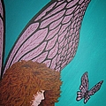 Faerie And Butterfly by Glenn Scano