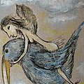 Faery And The Stork - Prints by Sue Wright