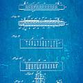 Fairfield Harmonica Patent Art 1897 Blueprint by Ian Monk