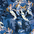 Fairies In The Moonlight French Textile by Photo Researchers