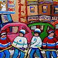 Fairmount Bagel Street Hockey Game by Carole Spandau