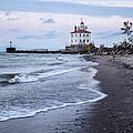Fairport Harbor Breakwater Lighthouse by Dale Kincaid