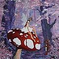 Fairy On A Mushroom by Jean Walker