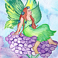 Fairy On Lilac by Susan Lyon