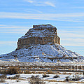 Fajada Butte In Snow by Meandering Photography