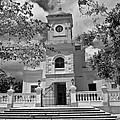 Fajardo Church And Plaza B W 3 by Ricardo J Ruiz de Porras