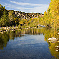 Fall Along River Sierra Ancha by Tom Vezo