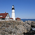 Fall At The Lighthouse by Eric Swan