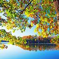Fall By The Lake by Carolyn Derstine