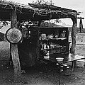 Fall Cattle Round-up Tohono O'odham Reservation Cook's Work Area Hanging Meat For Curing Near Sells  by David Lee Guss
