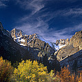 Fall Color Below Middle Palisades Glacier Eastern Sierras California by Dave Welling