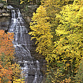 Fall Color Surrounds Chapel Falls On The Michigan Upper Peninsula by Dave Welling
