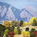 Fall Colors Along The Flatirons by Marilyn Hunt