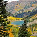 Fall Colors At Maroon Lake by Steve Anderson