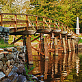 Fall Foliage Over The North Bridge by Jeff Folger