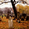 Fall Graveyard  by Gothicrow Images