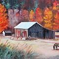 Fall Grazer by Eve  Wheeler