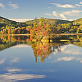Fall Landscape On Flying Pond In Vienna Maine by Keith Webber Jr