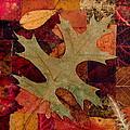 Fall Leaf Collage by Anna Ruzsan