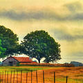 Landscape - Barn - Fall On The Farm by Barry Jones
