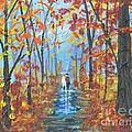 Fall Promenade  by Sally Rice