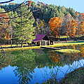 Fall Reflections At The Farm  by Lynn Bauer