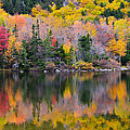 Fall Reflections In Echo Lake by Ken Stampfer