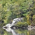 Fall Reflections Wc by Jim Brage