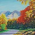 Fall Scene - Mountain Drive by John Clark